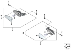Goto diagram: BMW Classic Motorbike Model S 1000 R 17 (0D52, 0D62)( ECE ), Category 63.23 Turn indicators, rear :: Diagram: 63_1523