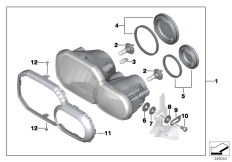 Goto diagram: BMW Classic Motorrad Modell F 700 GS (0B21)( BRA ), Category 63.12 Headlight :: Diagram: 63_1528