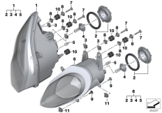 Goto diagram: BMW Classic Motorbike Model S 1000 RR 17 (0D50, 0D60)( ECE ), Category 63.12 Headlight :: Diagram: 63_1565