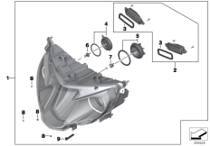 Goto diagram: BMW Classic Motorrad Modell R 1200 RT (0A03, 0A13)( USA ), Category 63.12 Headlight II :: Diagram: 63_1592