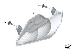 Goto diagram: BMW Classic Motorrad Modell R 1200 RT (0A03, 0A13)( USA ), Category 63.13 Turn indicators, front :: Diagram: 63_1597