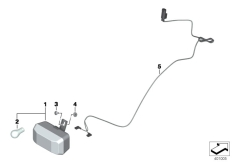 Goto diagram: BMW Classic Motorrad Modell R 1200 RT (0A03, 0A13)( USA ), Category 63.17 Rear fog light :: Diagram: 63_1634