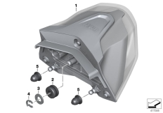 Goto diagram: BMW Classic Motorrad Modell R 1200 RS (0A05, 0A15)( USA ), Category 63.21 LED rear light :: Diagram: 63_1658