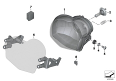 Goto diagram: BMW Classic Motorrad Modell G 650 GS Sertão (0136, 0146)( ECE ), Category 63.12 Headlight :: Diagram: 63_1676