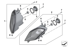 Goto diagram: BMW Classic Motorbike Model S 1000 XR (0D23)( BRA ), Category 63.12 Headlight :: Diagram: 63_1684