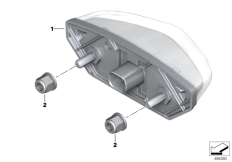 Goto diagram: BMW Classic Motorbike Model S 1000 XR (0D23)( BRA ), Category 63.21 LED rear light :: Diagram: 63_1755