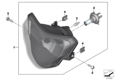Goto diagram: BMW Classic Motorrad Modell G 310 GS (0G22)( BRA ), Category 63.12 Headlight :: Diagram: 63_1777
