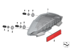 Goto diagram: BMW Classic Motorrad Modell HP2 Sport (0458, 0468)( ECE ), Category 63.21 LED rear light :: Diagram: 63_1821