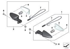 Goto diagram: BMW Classic Motorrad Modell S 1000 XR (0D03, 0D13)( USA ), Category 63.23 Turn indicators, rear :: Diagram: 63_1836