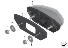 Goto diagram: BMW Classic Motorrad Modell G 310 GS (0G22)( BRA ), Category 63.21 LED rear light :: Diagram: 63_1842