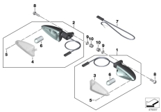 Goto diagram: BMW Classic Motorrad Modell G 310 GS (0G22)( BRA ), Category 63.13 Turn indicators, front :: Diagram: 63_1843