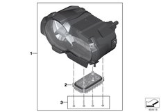 Goto diagram: BMW Classic Motorrad Modell R 1200 GS 17 (0A51, 0A61)( USA ), Category 63.12 LED headlight - Generation II :: Diagram: 63_1925