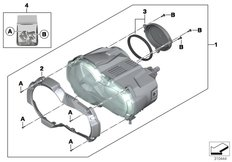 Goto diagram: BMW Classic Motorrad Modell R 1200 GS (0A41)( BRA ), Category 63.12 LED headlight :: Diagram: 63_1944