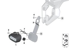 Goto diagram: BMW Classic Motorrad Modell F 700 GS 17 (0B26)( BRA ), Category 63.17 LED rear fog light :: Diagram: 63_2025