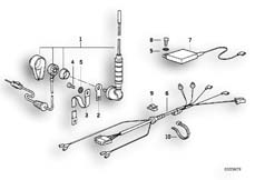 Goto diagram: BMW Classic Motorbike Model K 1100 LT (0526, 0536)( ECE ), Category 65.12 RADIO INSTALLING KIT/SINGLE PARTS :: Diagram: 65_0338