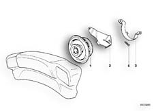 Goto diagram: BMW Classic Motorbike Model K 1100 LT (0526, 0536)( ECE ), Category 65.21 LOUDSPEAKER/TOP CASE LOUDSPEAKER BRACKET :: Diagram: 65_0342