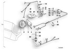 Goto diagram: BMW Classic Motorbike Model K 1100 LT (0526, 0536)( ECE ), Category 65.21 Retrofit kit, loudspeaker, rear :: Diagram: 65_0382