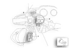 Goto diagram: BMW Classic Motorbike Model R 1150 RT 00 (0419,0499)( USA ), Category 65.12 Radio :: Diagram: 65_1105