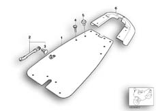 Goto diagram: BMW Classic Motorbike Model G 650 GS 09 (0178,0179)( ECE ), Category 65.30 Supporting plate and cover f authorities :: Diagram: 65_1193