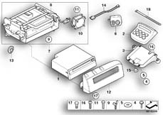 Goto diagram: BMW Classic Motorbike Model R 1200 CL (0442,0496)( USA ), Category 65.12 Radio CD / attachment parts :: Diagram: 65_1293