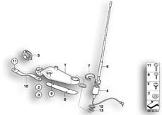 Goto diagram: BMW Classic Motorbike Model R 1200 CL (0442,0496)( USA ), Category 65.21 Components, radio antenna :: Diagram: 65_1296