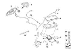 Goto diagram: BMW Classic Motorbike Model R 900 RT 05 SF (0367,0387)( ECE ), Category 65.12 Radio CD / attachment parts :: Diagram: 65_1543