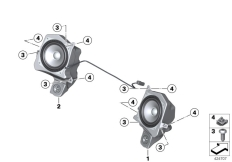 Goto diagram: BMW Classic Motorbike Model R 1200 RT 10 (0430,0440)( USA ), Category 65.21 Loudspeaker :: Diagram: 65_2136