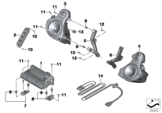 Goto diagram: BMW Classic Motorrad Modell K 1600 GT 17 (0F01, 0F11)( ECE ), Category 65.12 Audio system :: Diagram: 65_2276