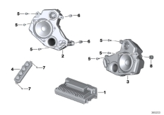 Goto diagram: BMW Classic Motorrad Modell R 1200 RT (0A03, 0A13)( USA ), Category 65.12 Audio system :: Diagram: 65_2614