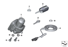 Goto diagram: BMW Classic Motorrad Modell R 1200 RS (0A05, 0A15)( USA ), Category 66.12 Radio-controlled locking system :: Diagram: 66_0365