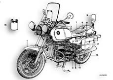 Goto diagram: BMW Classic Motorrad Modell R 80( ECE ), Category 71.15 SPECIAL VEHICLES-AEGYPTEN :: Diagram: 71_0136