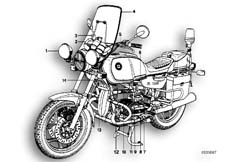 Goto diagram: BMW Classic Motorrad Modell R 80( ECE ), Category 71.15 SPECIAL VEHICLES-AEGYPTEN :: Diagram: 71_0137