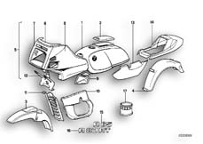 Goto diagram: BMW Classic Motorbike Model R 80 RT( ECE ), Category 71.15 Painted Parts :: Diagram: 71_0139