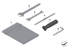 Goto diagram: BMW Classic Motorrad Modell R 1200 RS (0A05, 0A15)( USA ), Category 71.05 Additional tool kit :: Diagram: 71_0958