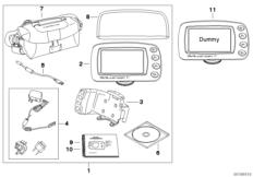 Goto diagram: BMW Classic Motorrad Modell R 900 RT 05 SF (0367,0387)( ECE ), Category 77.52 BMW Motorrad Navigator IV :: Diagram: 77_0001
