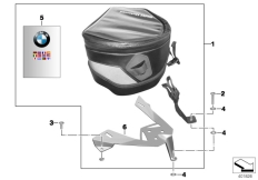 Goto diagram: BMW Classic Motorbike Model S 1000 RR 10 (0507,0517)( ECE ), Category 77.45 Tank-Bag :: Diagram: 77_0003