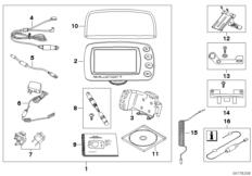 Goto diagram: BMW Classic Motorrad Modell R 900 RT 05 SF (0367,0387)( ECE ), Category 77.52 BMW Motorrad Navigator :: Diagram: 77_0011