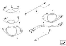 Goto diagram: BMW Classic Motorbike Model R 900 RT 05 SF (0367,0387)( ECE ), Category 77.52 Connect.cable for navigation system :: Diagram: 77_0019