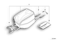 Goto diagram: BMW Classic Motorbike Model R 900 RT 05 SF (0367,0387)( ECE ), Category 77.45 Tank bag :: Diagram: 77_0051