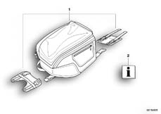 Goto diagram: BMW Classic Motorbike Model F 800 R (0215)( BRA ), Category 77.45 Tank bag :: Diagram: 77_0057