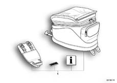 Goto diagram: BMW Classic Motorbike Model R 1200 R 06 (0378,0398)( USA ), Category 77.45 Tank bag :: Diagram: 77_0059
