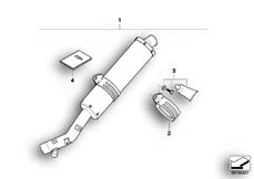 Goto diagram: BMW Classic Motorrad Modell R 1200 GS Adve. 08 (0380,0390)( USA ), Category 77.11 Sport silencer :: Diagram: 77_0067