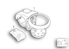 Goto diagram: BMW Classic Motorbike Model K 1200 LT 99 (0545,0555)( ECE ), Category 77.22 Can holder :: Diagram: 77_0081