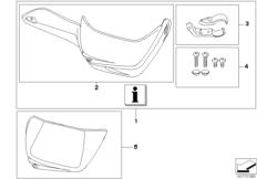 Goto diagram: BMW Classic Motorrad Modell R 1200 GS 04 (0307,0317)( ECE ), Category 77.22 Set, hand protection :: Diagram: 77_0090