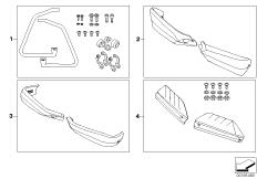 Goto diagram: BMW Classic Motorrad Modell G 650 Xcountry 07 (0164,0194)( ECE ), Category 77.22 Set, hand safety bar :: Diagram: 77_0091