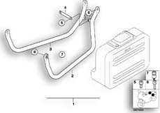 Goto diagram: BMW Classic Motorbike Model G 650 GS 09 (0178,0179)( ECE ), Category 77.42 SET CASE HOLDER :: Diagram: 77_0102