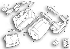Goto diagram: BMW Classic Motorrad Modell R 1200 S (0366,0396)( ECE ), Category 77.41 Sports case single parts :: Diagram: 77_0117