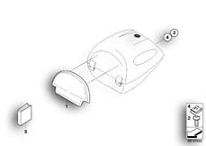 Goto diagram: BMW Classic Motorbike Model F 800 GT (0B03, 0B13)( USA ), Category 77.44 Back cushion, topcase 28l :: Diagram: 77_0127