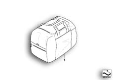 Goto diagram: BMW Classic Motorbike Model R 900 RT 05 SF (0367,0387)( ECE ), Category 77.43 Inner bag, topcase 49l :: Diagram: 77_0132