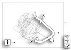 Goto diagram: BMW Classic Motorbike Model F 800 R (0215)( BRA ), Category 77.14 ENGINE PROTECTION BAR :: Diagram: 77_0145